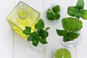 Essential oil, lime, mint, wintergreen