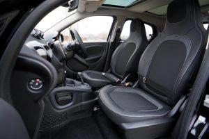 black car interior