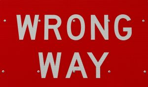 """wrong way"" sign"