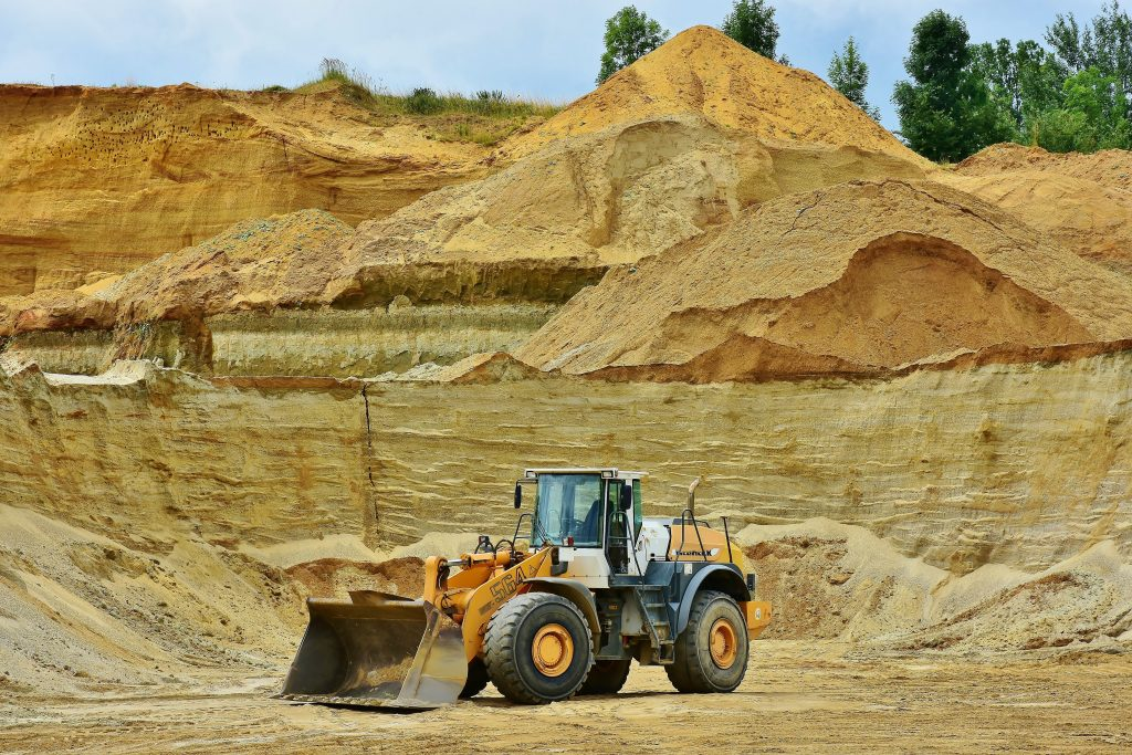 Clay mining for litter