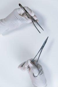 tweezers used to remove and handle ticks