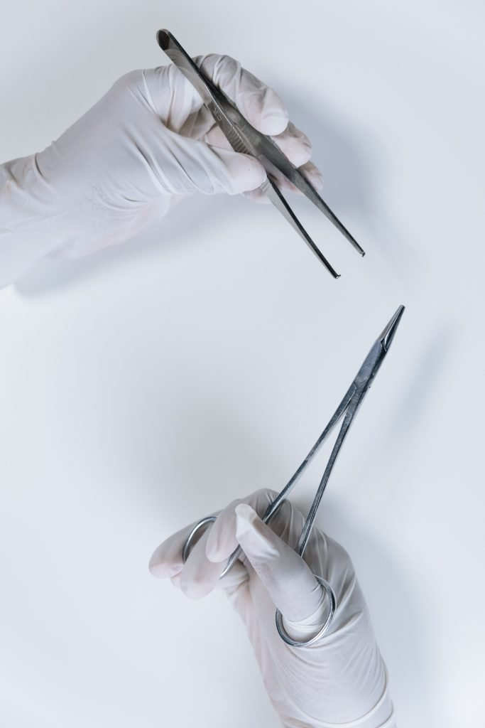 tweezers used to remove and handle ticks