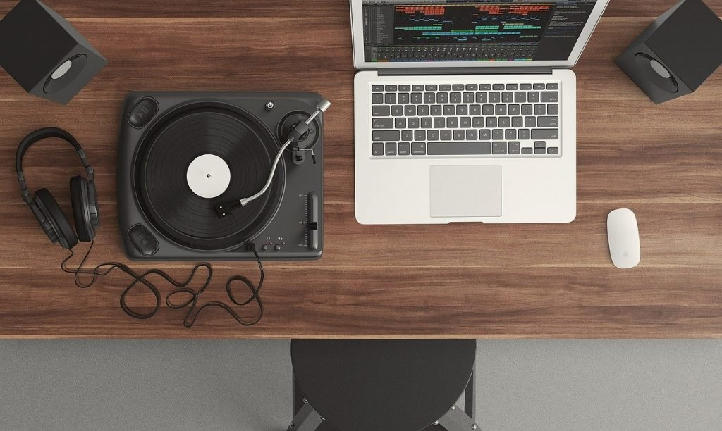 turntable and computer