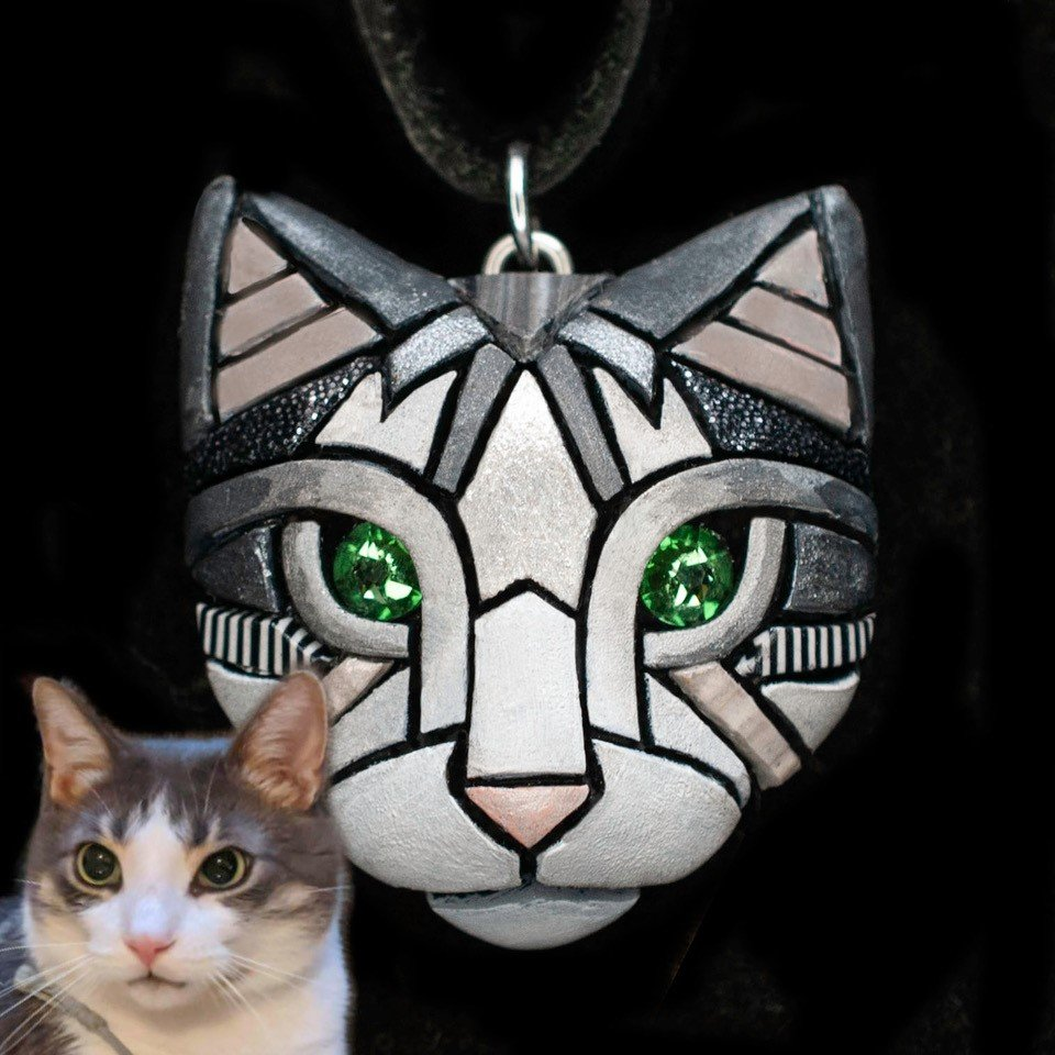 Linda Webb-Custom Cat Necklace