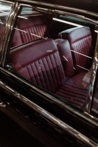 Car interior-red leather