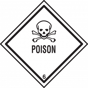 poison warning sign
