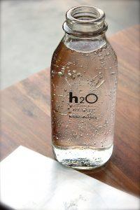 Water bottle-glass