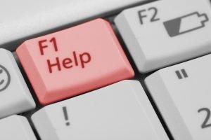 Help button-F1-on keyboard