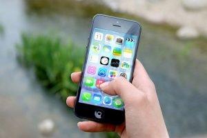 iphone held in hand